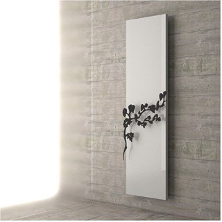 Designer matte white and black towel warmer radiator