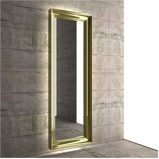 Luxury Bevelled Frame Gold Mirror Radiator