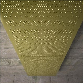 Designer mosaic tall gold radiator
