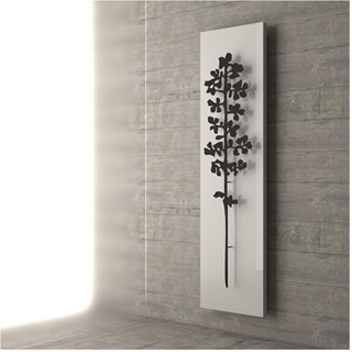 Luxury Towel Rail Radiator Featuring Black Leaf
