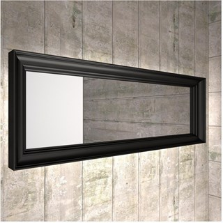 Luxury mirror radiator with lighting system