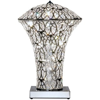 Italian Asfour ( Swarovski ) LED Crystal lampshade table lamp