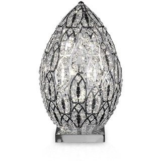 Luxury 53 cm tall LED Asfour crystal silver lamp