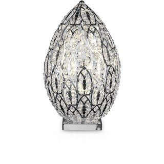 Luxury 74 cm tall LED Asfour crystal silver lamp