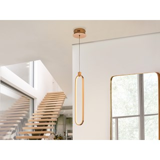 Brushed Gold Adriano Pendant Light | Touched Interiors