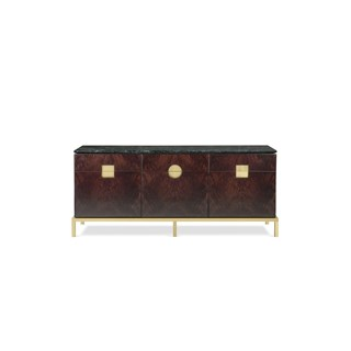 Alessia Italian Satin Brass Sideboard | Touched Interiors