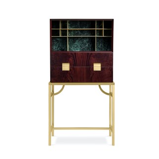 Amarino Satin Brass Cabinet | Touched Interiors
