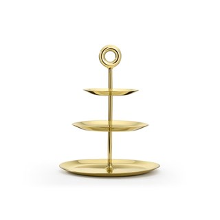 Polished Brass Amelie Etagere | Touched Interiors
