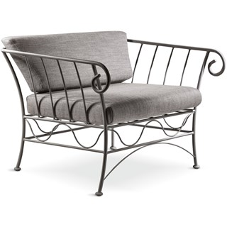 Anthracite Outdoor Luxury Armchair | Touched Interiors