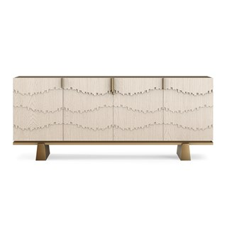 Aquinas Sideboard With Oak & Brass Detailing | Touched Interiors