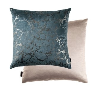 Ara Teal Luxury Cushion | Touched Interiors