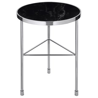 Armstrong Luxury Side Table with Black Marble Top   Touched Interiors