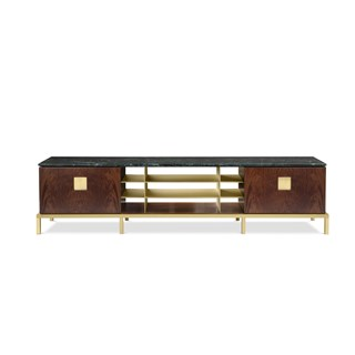 Assunta Italian Satin Brass Sideboard | Touched Interiors