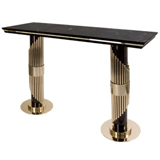 Aurum Symphony Marble Top Console Table