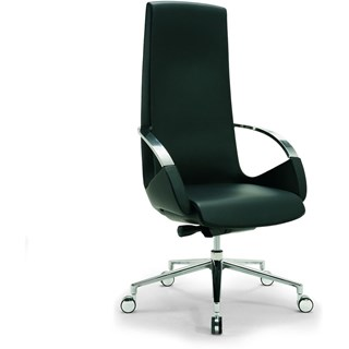Bespoke Upholstered Office Adjustable Swivel Tilting Office Tall Armchair