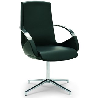 Bespoke Upholstered Office Swivel Low Back Office Armchair