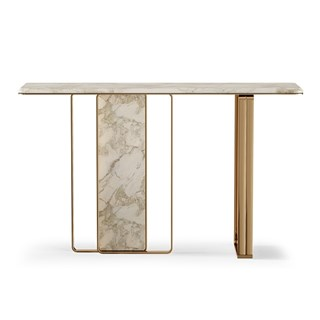 Breeze Carrara Marble Luxury Console | Touched Interiors