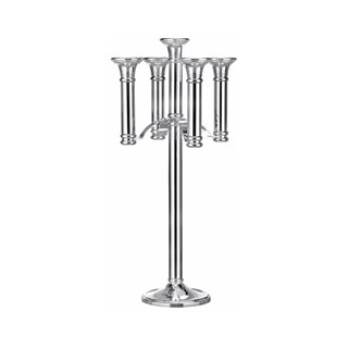 Broadlands Floor Standing Grand Nickel Plated Candelabra