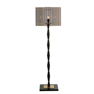 Tinted Glass & Satin Gold Finish Budelli Floor Lamp | Touched Interiors