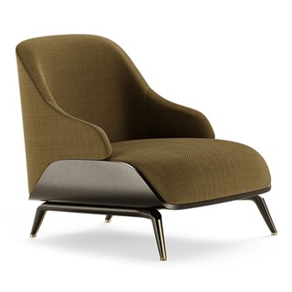 Carmentis Modern Armchair With Black Oak Matte Seat | Touched Interiors