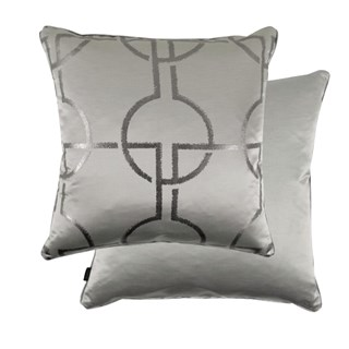 City Grey Luxury Feather Padded Cushion