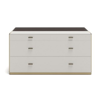Upholstered Leather Claudette Chest Of Drawers | Touched Interiors