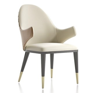 The Conchita Quilted Dining Chair With Armrest | Touched Interiors