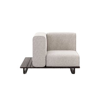 Copacabana Outdoor Armchair with Left Armrest   Touched Interiors
