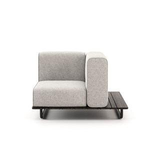 Copacabana Outdoor Armchair with Right Armrest   Touched Interiors