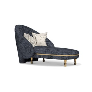 Polished Brass Corinna Chaise Longue | Touched Interiors