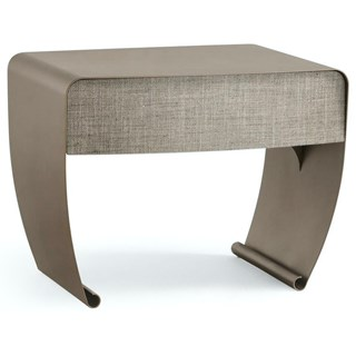 Curl Metallic Iron Luxury Bedside Table | Touched Interiors