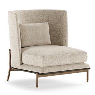 Cybele Armchair With Square Backrest | Touched Interiors