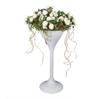 Dakota White Rose Tall Arrangement Set | Touched Interiors