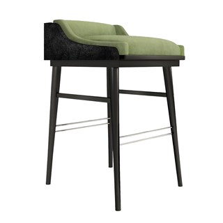 High Gloss Black Lacquer Dion Bar Chair | Touched Interiors
