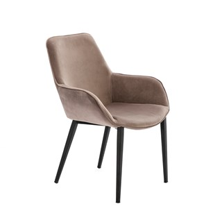 Matte Black Edwige Dining Chair | Touched Interiors