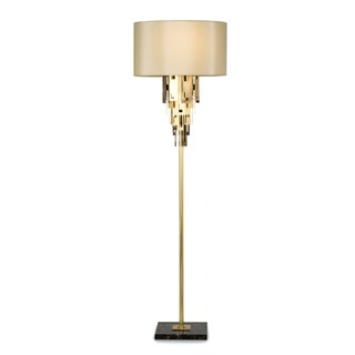 Plain & Hammered Brass Elba Floor Lamp | Touched Interiors