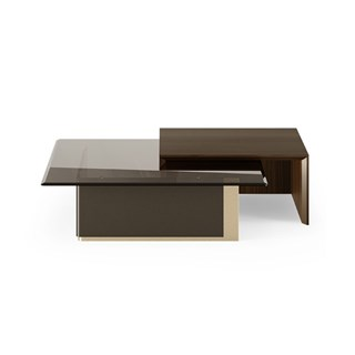 Fluid Walnut Luxury Centre Table | Touched Interiors