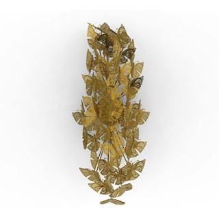 Gilded Bronze Brass Butterfly Sconce Wall Light