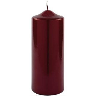 Glossy Red Festive Candle (Set of 6) | Touched Interiors