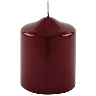 Glossy Red Festive Candle (Set of 8) | Touched Interiors