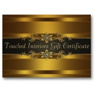 Touched Interiors Luxury Gold Gift Voucher