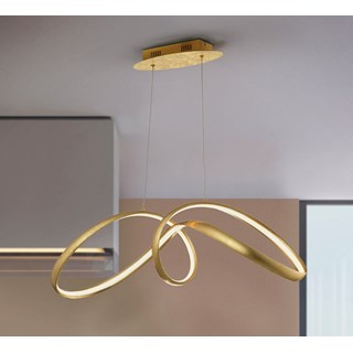 Gold Leaf Pasadena Pendant Light | Touched Interiors