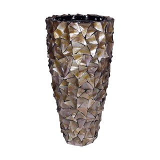 Gosrottie Brown Seashell Planter