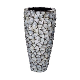 Gosrottie Silver Mother of Pearl Seashell Planter