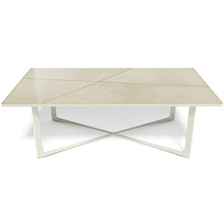 Gracie Marble Top Aluminium And Copper Plated Outdoor Rectangle Dining Table