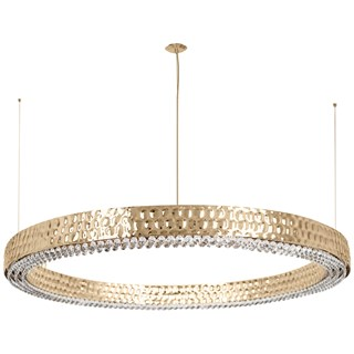 Hammered Swarovski Crystal Luxury Suspension Light | Touched Interiors