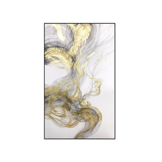 Hand Painted White & Gold Marble Oil Painting | Touched Interiors