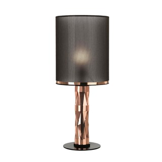 Luxury Bevelled Copper Icaria Table Lamp | Touched Interiors