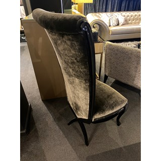 Ex-display Anthracite & Black Gloss Chair