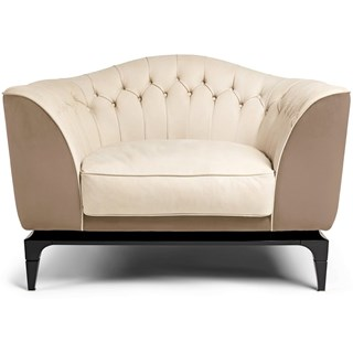 Incite Upholstered Button Tufted Italian Armchair